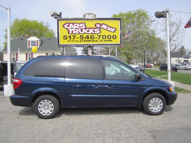 2003 CHRYSLER TOWN  COUNTRY LX FWD navy blue 2003 chrysler town  country lx minivan with 3rd row