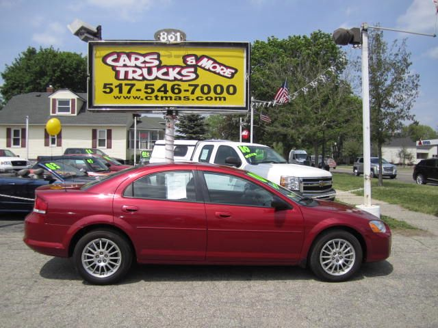 2004 CHRYSLER SEBRING SEDAN maroon sharp 2004 chrysler sebring - 24l 4 cylinder is great on gas