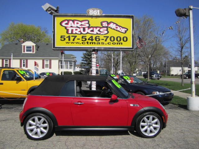2005 MINI COOPER S CONVERTIBLE chili red 2005 mini cooper convertible - minis are great on gas