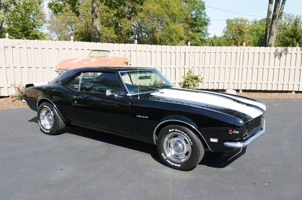 black 1968 camaro z28