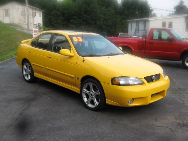 2003 nissan sentra se r se r spec v 2 5 le 6 speed manual yellow ephrata 6900 yellow s2cars