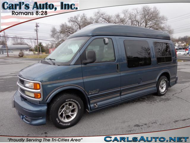1999 CHEVROLET EXPRESS G-1500 green halogen headlightsmaintenance free battery12v power outleta