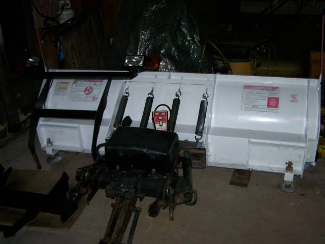 1998 Blizzard Snow Plow 8ft-10ft with Wings